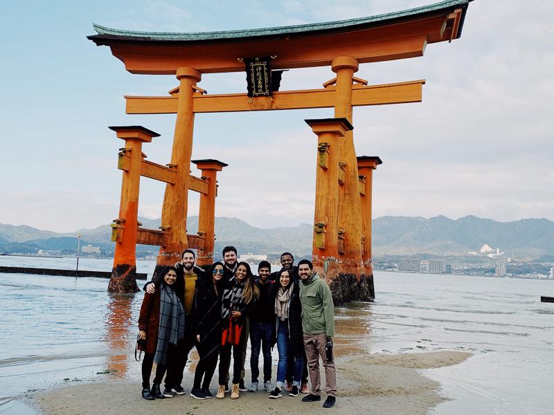 Students on Miyajima Island