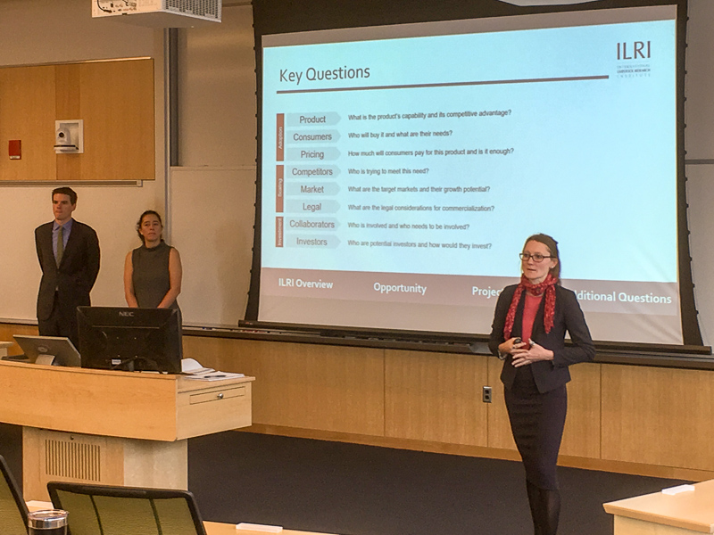 Team of students presenting