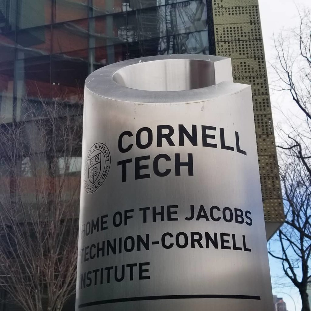 Photo of the entrance to the Cornell Tech campus
