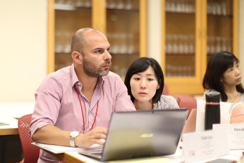 Participants on a laptop