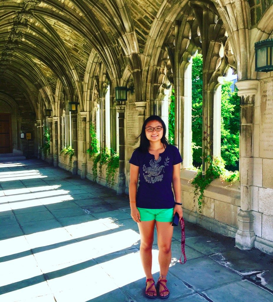 Hannah on West Campus