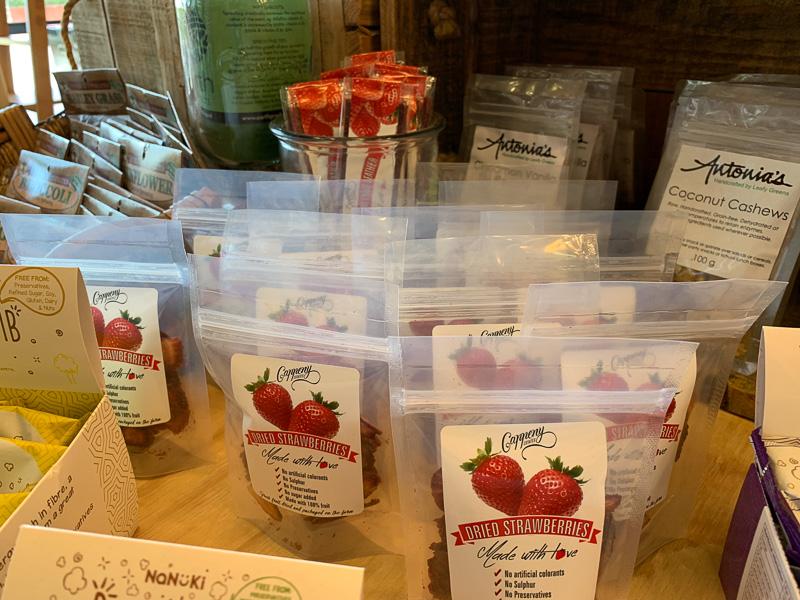 Strawberries in packaging