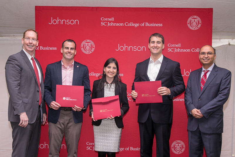 Case winners with their awards