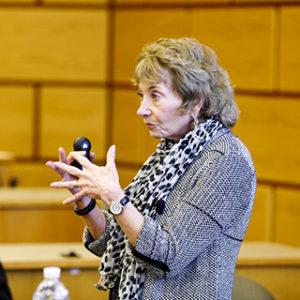 Linda Treviño explaining