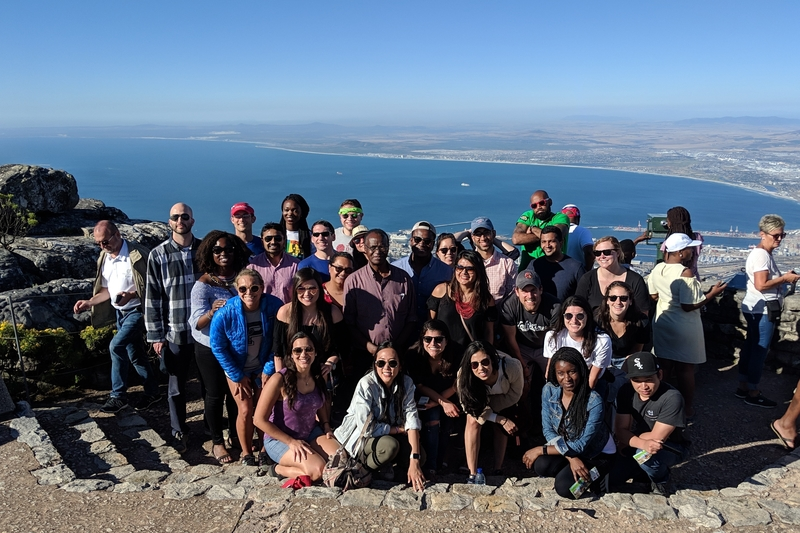 Students on South Africa trek