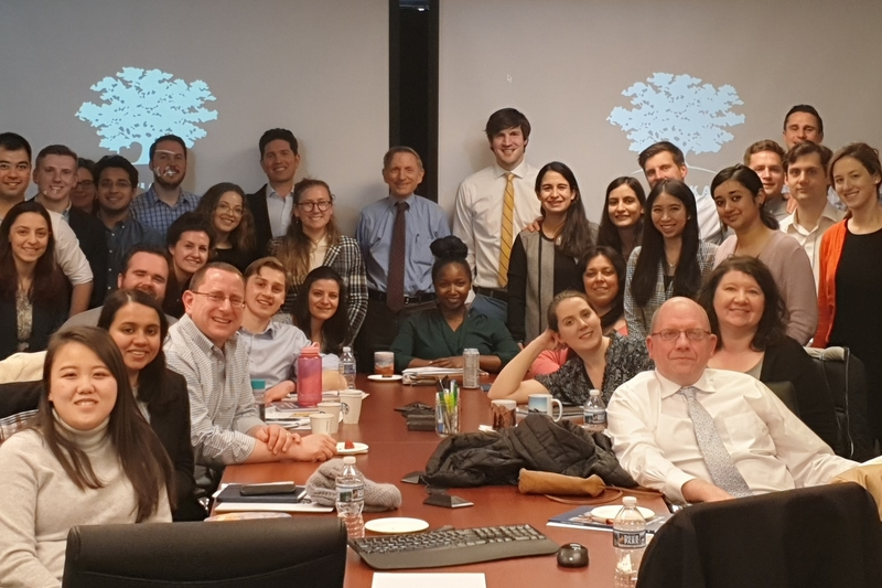 Bill Drayton speaks with students