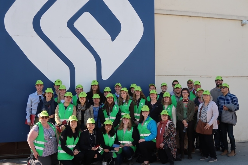 Students visit company
