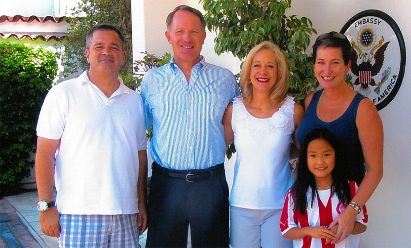 Virginia Bennett and her family with Daniel B. Smith