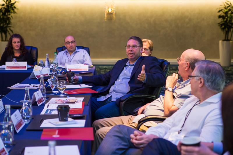 Roundtable participants talking