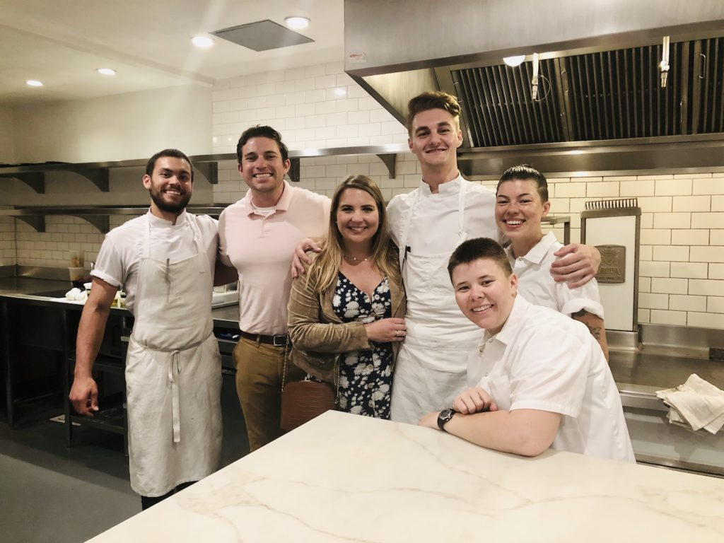 Sean and kitchen workers