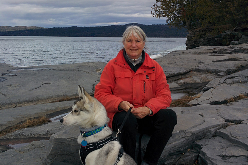 photo of Suzanne Loker and her dog