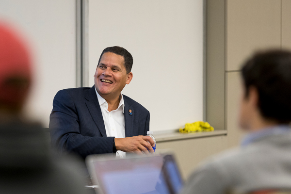 Reggie Fils-Aimé visits campus, delivers inaugural Leaders in Residence lecture