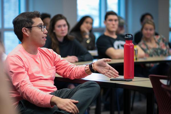 Diego Gonzalez Castellanos '20 participate in class
