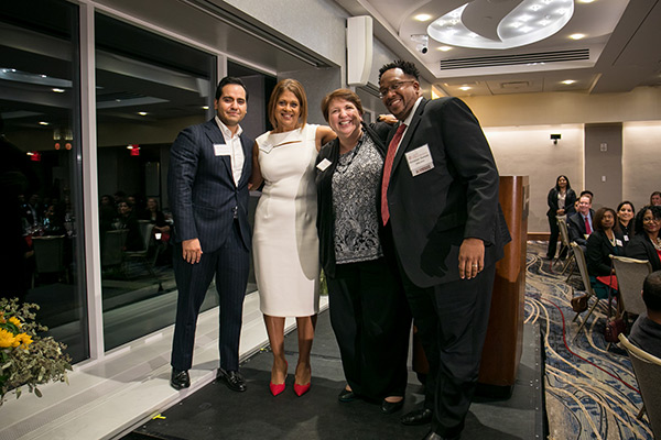 pictured left to right: Steven Martinez, MBA '18, Angela Noble Grange, MBA '94, Ann Richards, and Christian Duncan, MBA '10