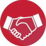 Handshake Icon: Academic Collaboration