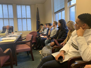 Cornell students observe the arbitration