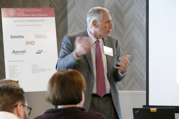 Advisory board chairman Bob Alter speaks during industry immersion trip