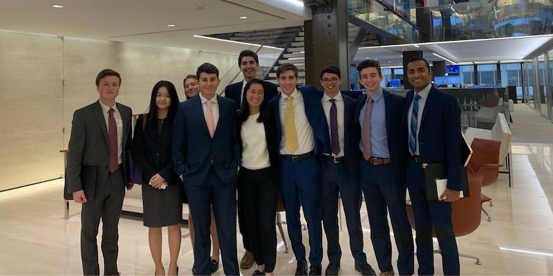 Students visit Centerbridge Partners