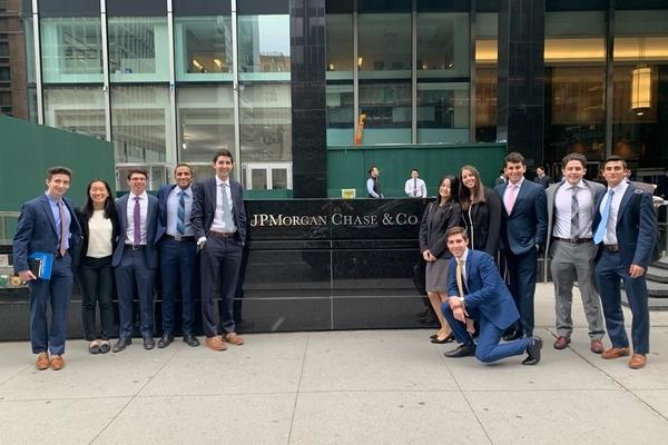 CREC students at JPMorgan Chase