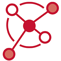 Icon: Red connected circles