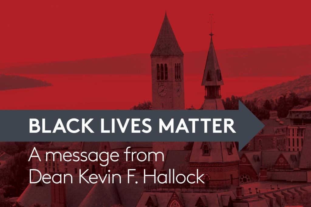 Black Lives Matter - A message from Dean Keven H. Hallock