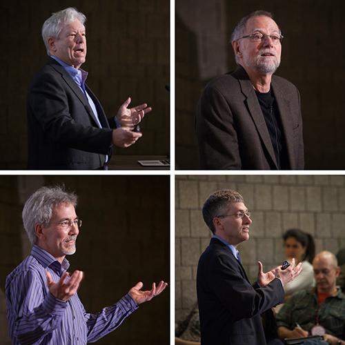 Richard Thaler, Bob Frank, Tom Gilovich, and Ted O'Donoghue, speaking