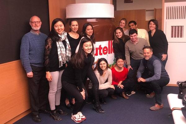 Dyson Food Marketing Fellows visit the Ferrero Rocher plant in Alba, Italy in January 2020