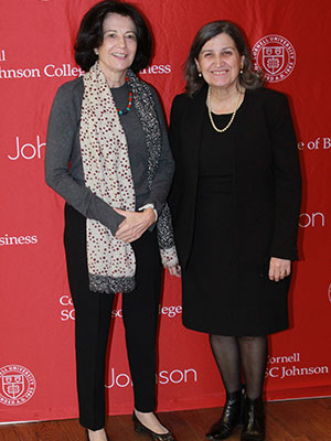 photo of Anne Miroux and Lourdes Casanova standing next to each other