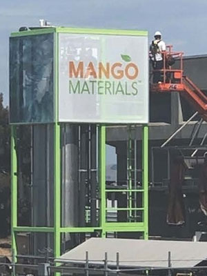 A picture of a Mango Materials facility in an industrial setting