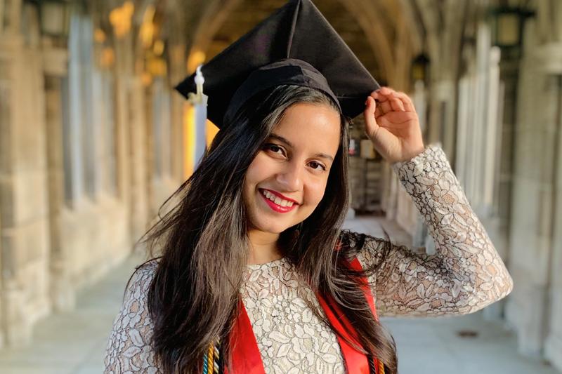 Apekshita Alkesh in graduation cap